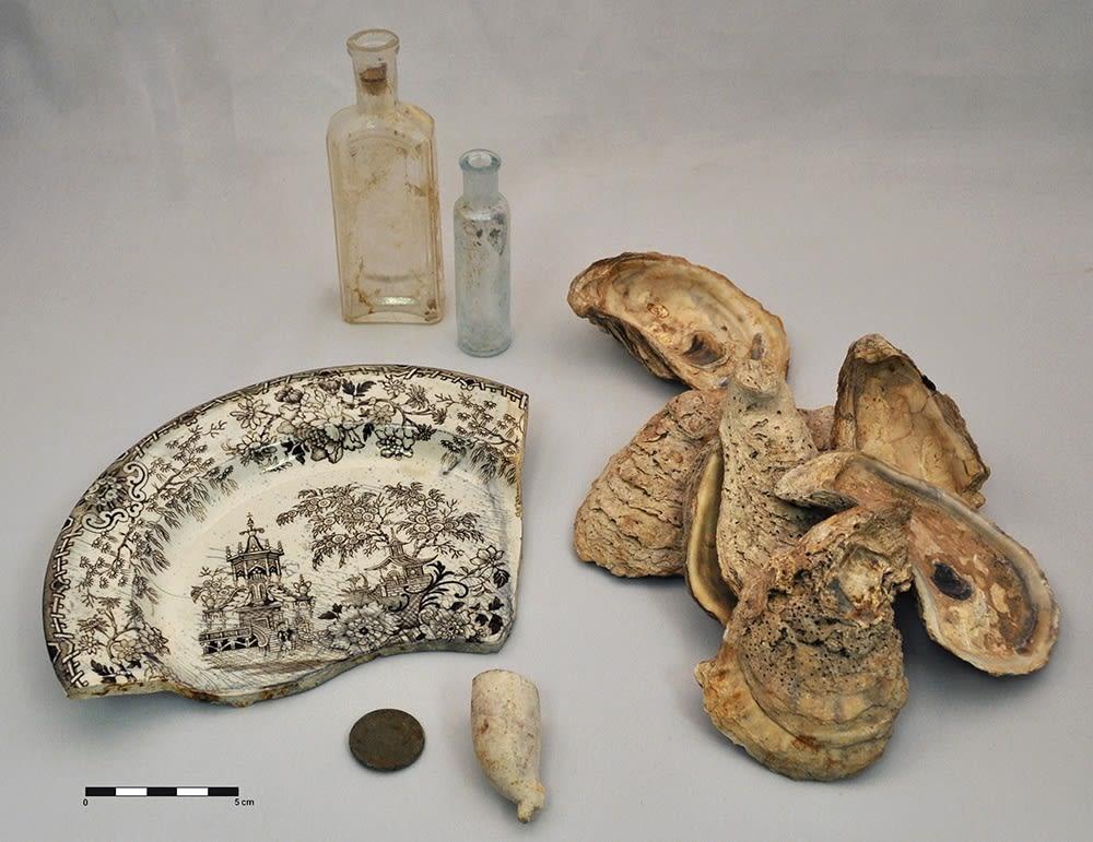 Artefacts découverts sur les chantiers de Griffintown