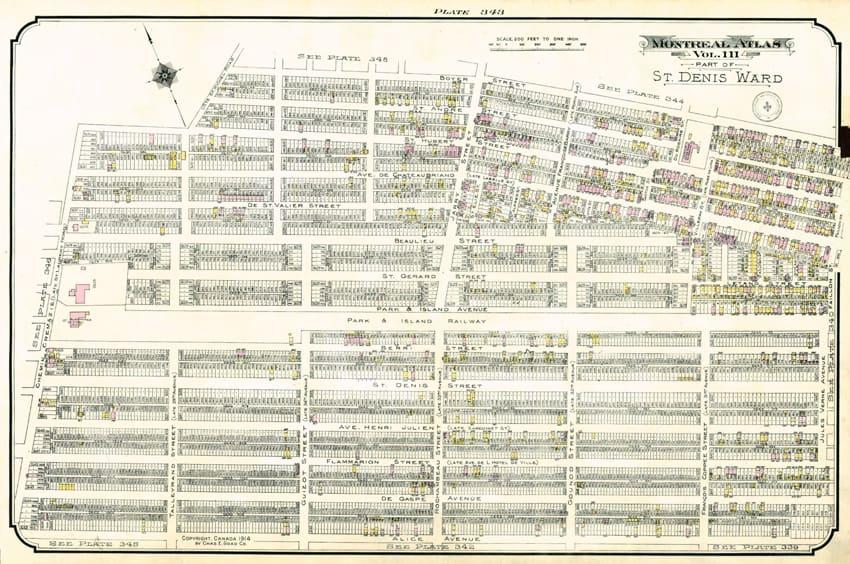 Carte de Villeray - 1914