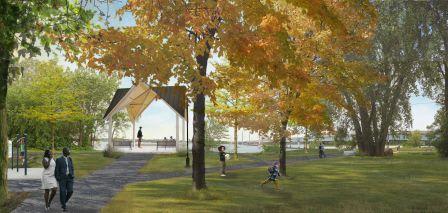 Un aperçu de ce à quoi ressemblera le parc Ernest-Rouleau après les travaux.