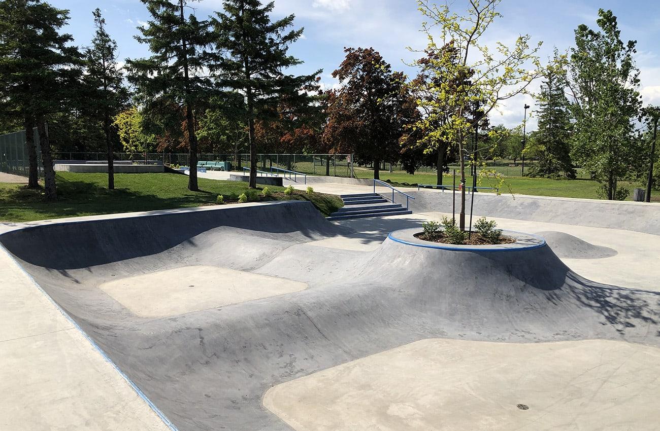 Le skatepark du parc Delorme à Saint-Léonard