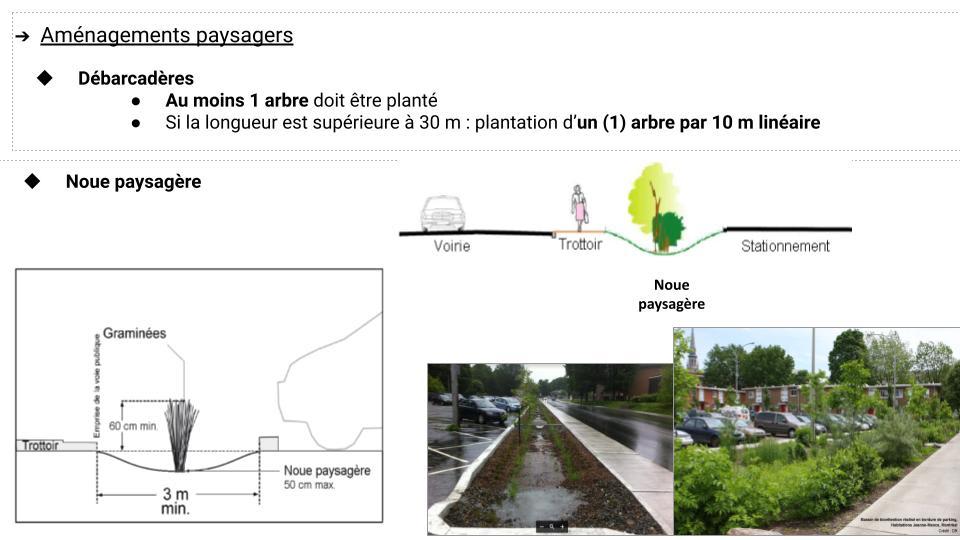 Aménagement paysager - stationnement