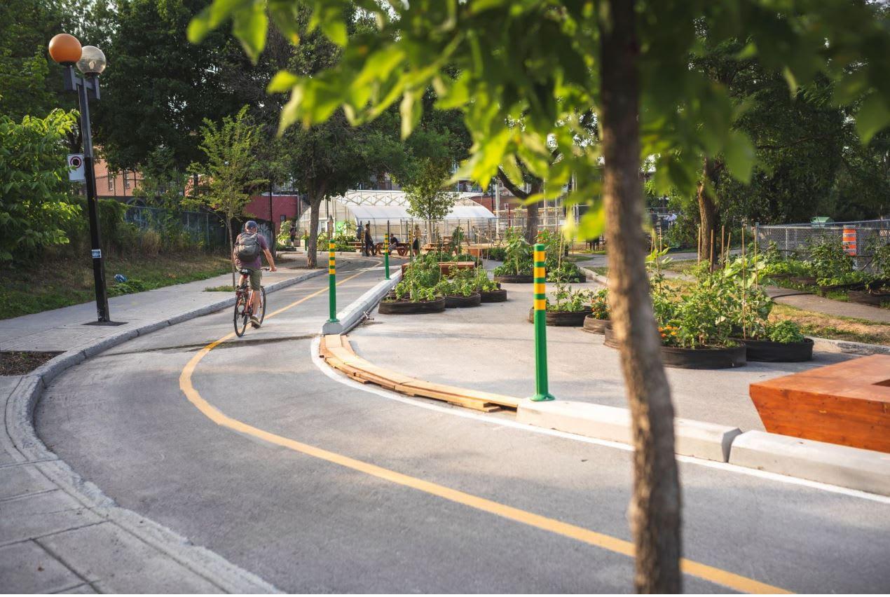Piste cyclable de la rue Dufresne