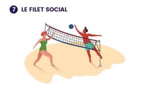 Illustration de ce à quoi pourrait ressembler le projet 7- Le filet social