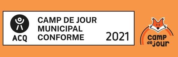 bandeau attestant de la certification ACQ des camps de jour de l'arrondissement d'Ahuntsic-Cartierville