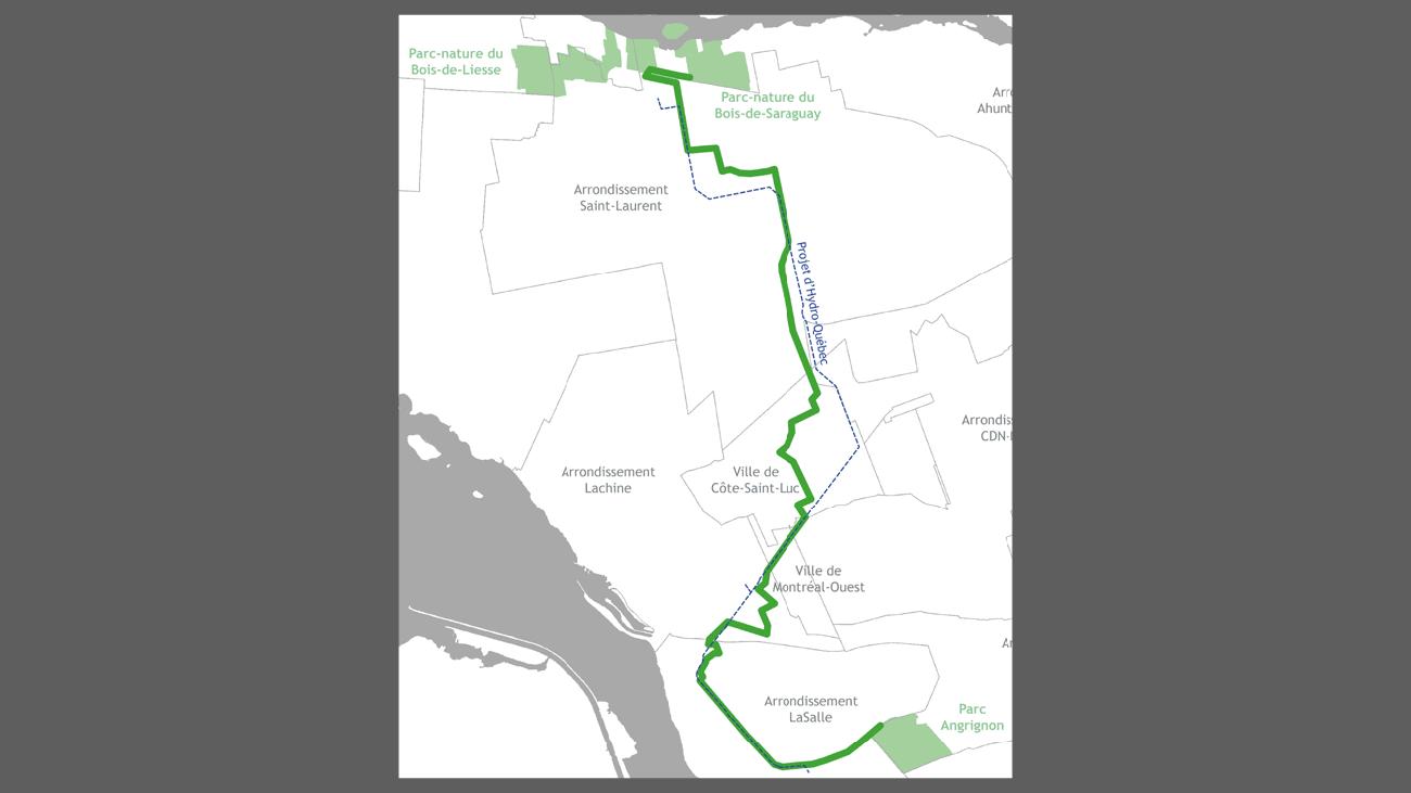 Corridor vert - tracé préliminaire