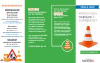 Dépliant sur les travaux été-automne 2021 dans l'arrondissement d'Outremont