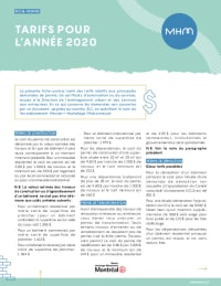 Tarifs 2021 - MHM