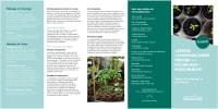 Dépliant des règles de jardinage et de civisme pour les jardins communautaires dans MHM