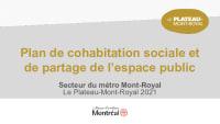 Plan de cohabitation sociale - Métro Mont-Royal