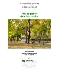 Plan de gestion de la forêt urbaine de l'arrondissement d'Outremont