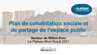 Plan de cohabitation sociale et de partage de l'espace public dans Milton-Parc