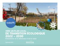 Couverture Vers un Plan local de transition écologique dans MHM