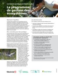 Le programme de gestion des écosystèmes