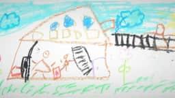Dessin d'enfant illustrant une maison