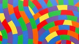 Lignes de rectangles de couleurs