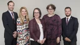 Les 5 élus d'Ahuntsic-Cartierville en 2019.