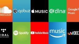 Logos de services de musique en ligne