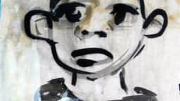 Dessin d'un personnage issu d'une œuvre de Jean Marc Nahas