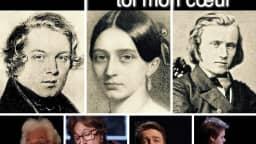 Image de Clara Wieck, Robert Schumann et Johannes Brahms et le musicologue Pierre Vachon, la comédienne Isabelle Drainville, le baryton Pierre Rancourt, le pianiste Michel-Alexandre Broekaert