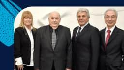 Photo de 4 élus de l'arrondissement de Saint-Léonard à Montréal
