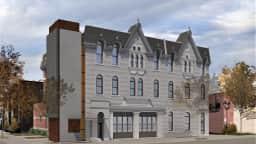 Maquette de rendu des travaux de reconstruction de la Caserne 26