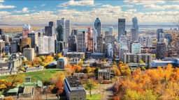 Le centre-ville de Montréal