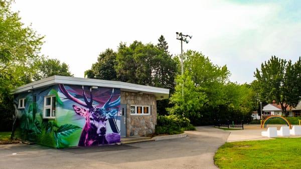 Le quartier Cosmos dans l'arrondissement Saint-Laurent à Montréal.