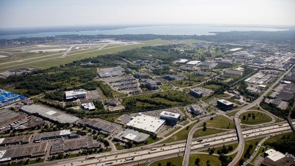 Le quartier du Technoparc dans l'arrondissement Saint-Laurent à Montréal.