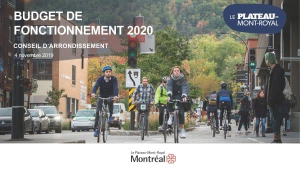 PMR - présentation du budget 2020 du Plateau-Mont-Royal