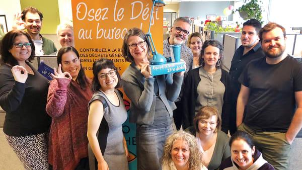 Les employés de Rosemont-La Petite-Patrie qui ont remporté le défi lancé à l'interne pour la réduction des déchets