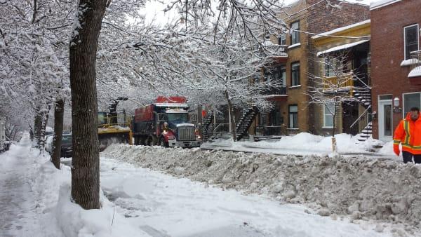 Chargement de la neige