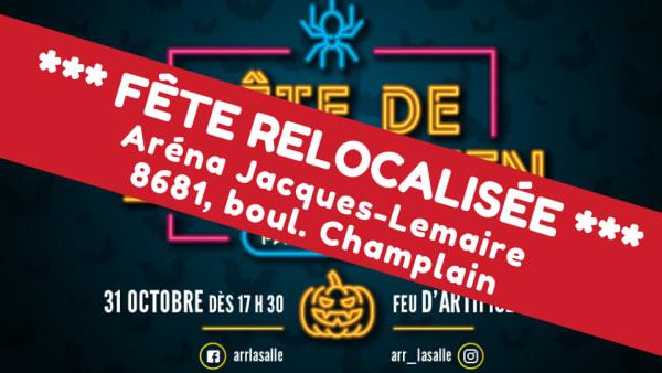 Relocalisation de la fête de l'Halloween à LaSalle