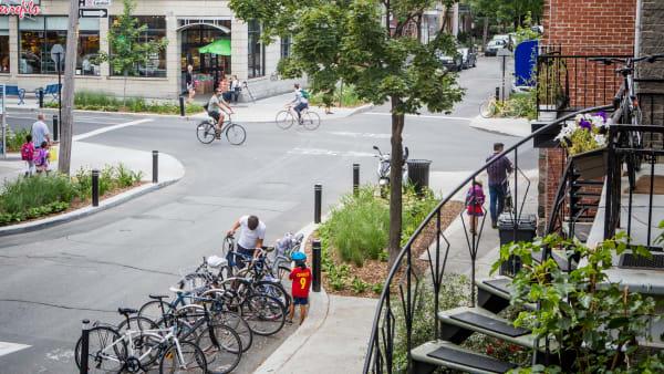 Quartier Le Petit Laurier dans l'arrondissement du Plateau-Mont-Royal à Montréal.