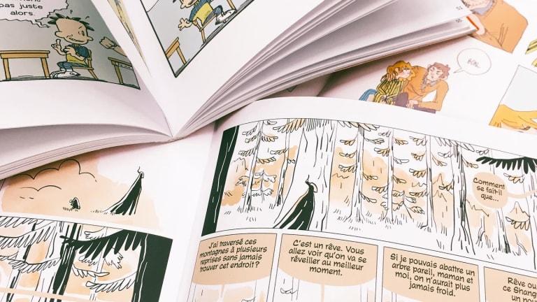 Intérieur de bandes dessinées