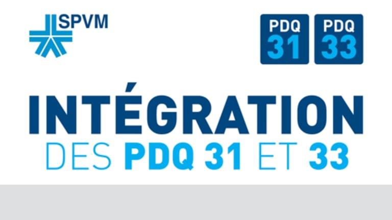 SPVM : Intégration des Postes de quartier 31 et 33