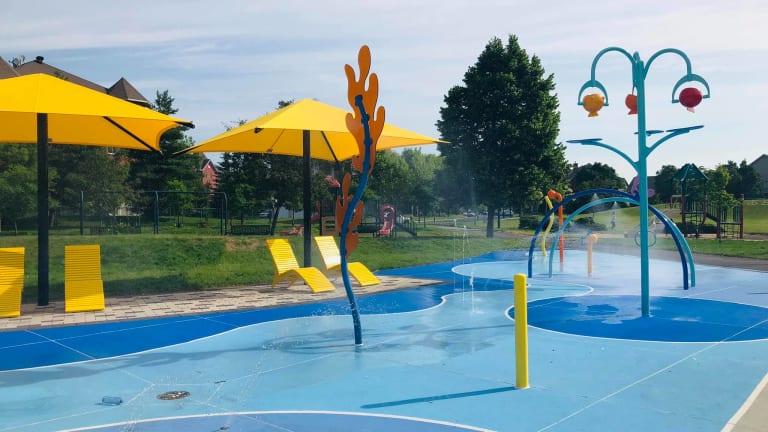 Parc de jeux d'eau du parc Cyril-W.-Mcdonald à Pierrefonds-Roxboro