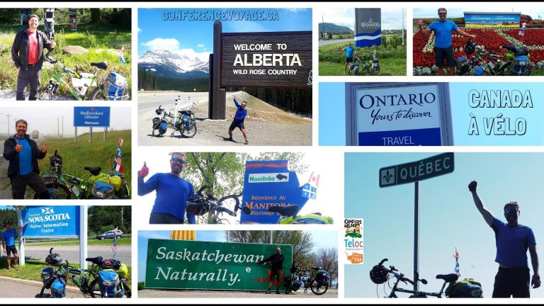 La traversée du Canada en vélo