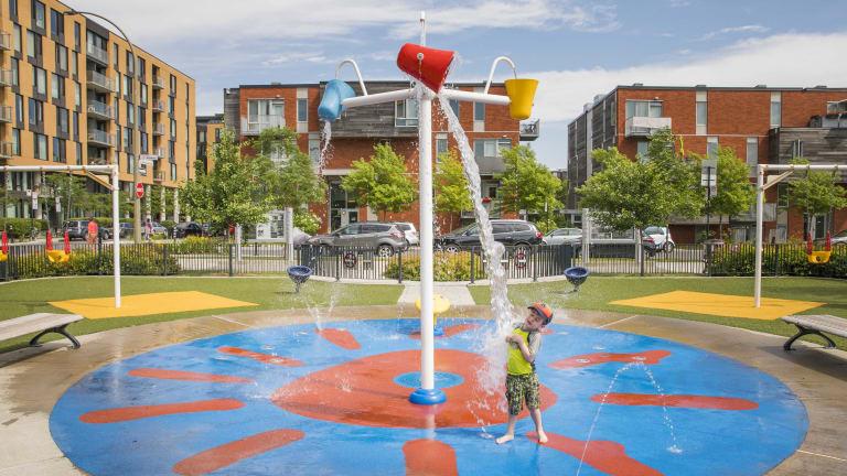 Jeux d'eau, parc Luc-Durand