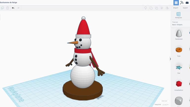 Mixlab : Mon bonhomme de neige en 3D