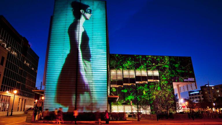 Projection sur un bâtiment de la Ville - Appels à projets