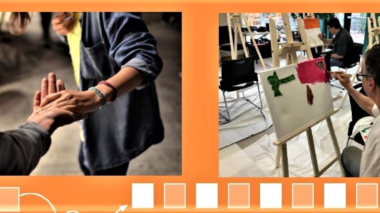photos tirés du dépliant produit par le centre de jour Rêv'Avenir