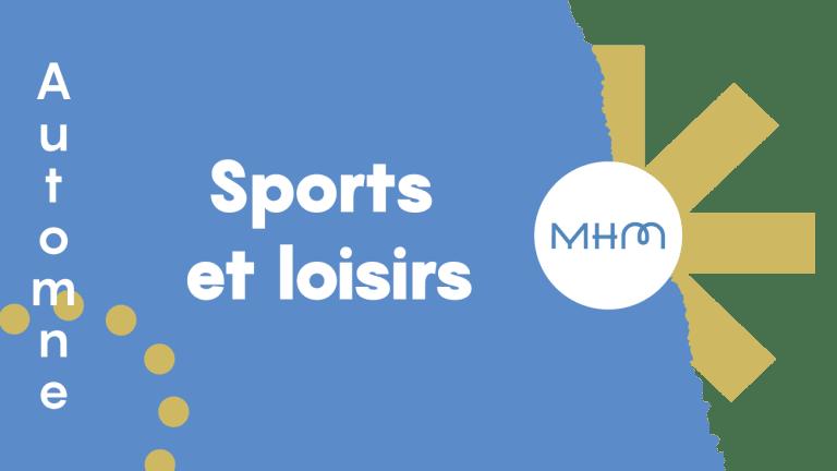 Bannière bleue et or sports et loisirs
