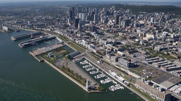 Vue aérienne du Vieux-Montréal