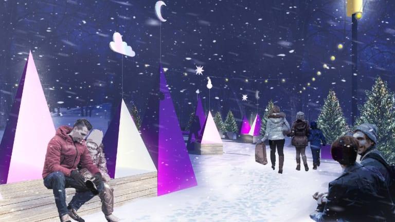 Concept de la station hivernale de Saint-Léonard.