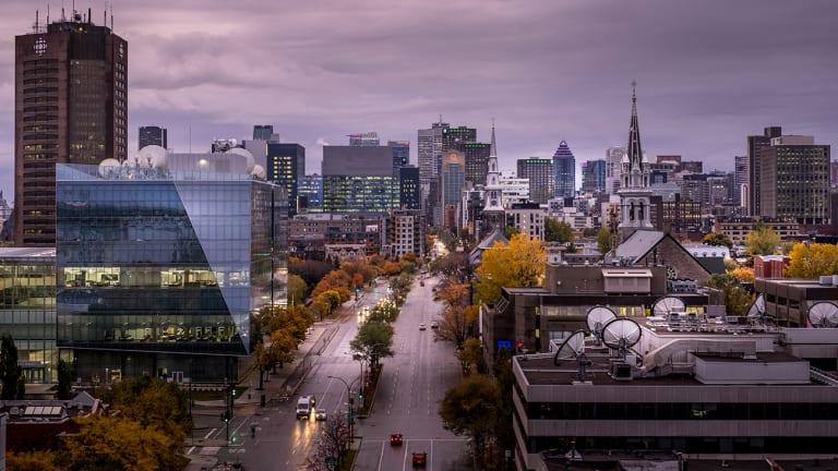 Vue du ciel de la Ville de Montréal