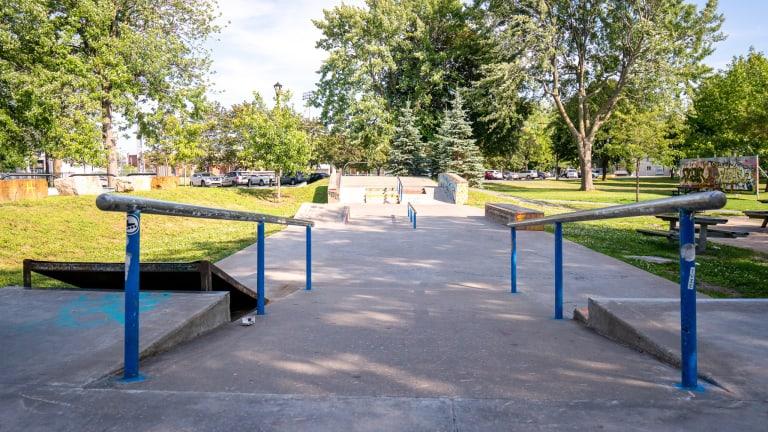 Skatepark au parc LaSalle à Lachine.
