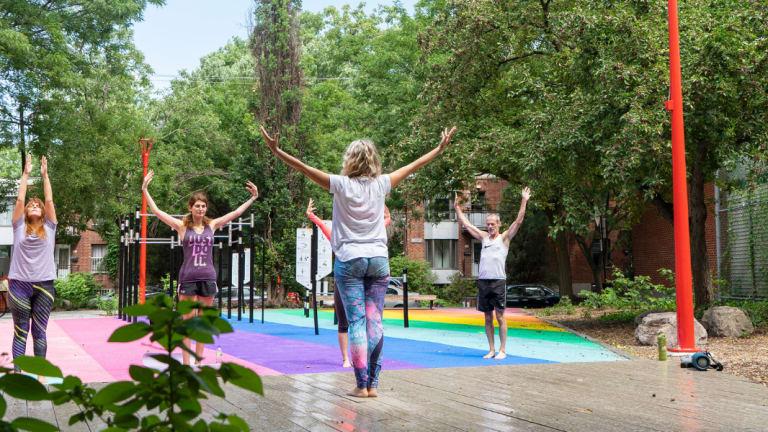 Yoga gratuit au parc Raymond-Blain