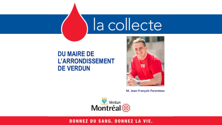 Collecte de sang du maire de l'arrondissement de Verdun