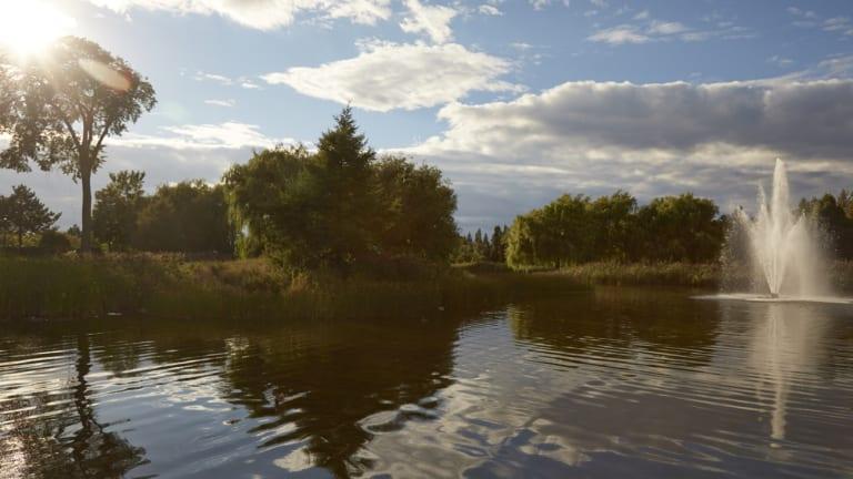 Fontaine du Parc Jarry à Montréal
