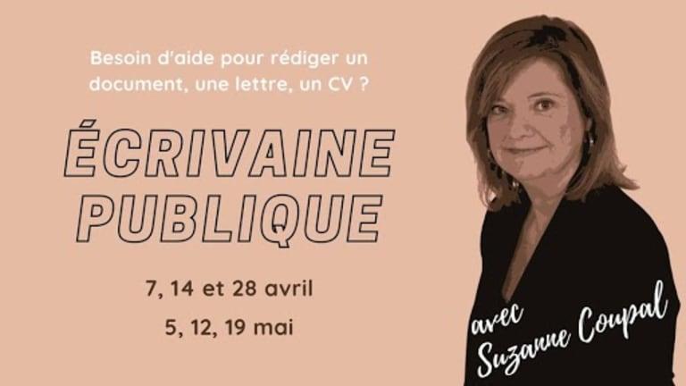Suzanne Coupal écrivaine publique dans les bibliothèques du Plateau-Mont-Royal